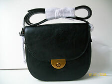 Fossil Emi black saddle leather cross body bag  new with tags