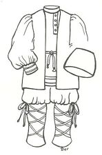 """sewing pattern for a 23 -24"""" doll BOY man Russian antique Design #695"""