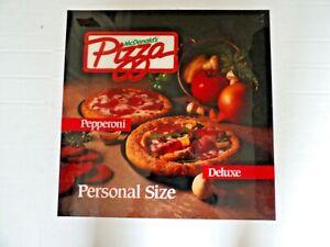 "1991 McDonalds Test Market Personal Size Pizza Translite 22"" x 22"""