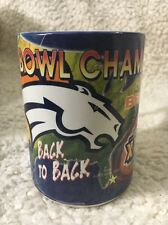 Denver Broncos Super Bowl XXXIII Back To Back Championship Wins Coffee Mug 1999