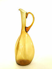 MID CENTURY MODERN PINCHED BLENKO PITCHER WINSLOW ANDERSON AMBER CARAFE RETRO