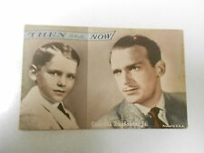 DOUGLAS FAIRBANKS JR. Actor THEN & NOW Vintage Exhibition ARCADE Card