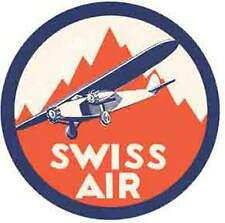 Swiss Air    Vintage-Looking  1950's Airline Travel Sticker/Decal