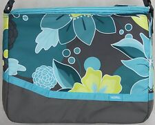Thermos Insulated 18 Can Gray Blue Yellow with Flowers Tote Cooler 15X12X6