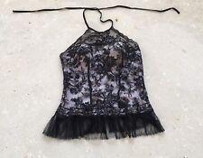 LA PERLA - Marvel lace black/nude Corset IT46