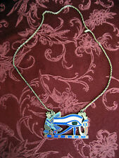 "Used Vintage 28"" Egyptian Necklace, heavy Metal on chain, w/warranty"