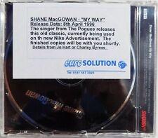 POGUES CD SHANE MacGOWAN My Way 1 Track PROMO Euro Solution PROMO STICKER