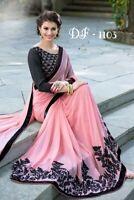 Saree Indian Sari Designer Silk Pakistani Wear Party Wedding Partywear Mo