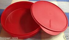 TUPPERWARE - DARK RED- STORE N SERVE CONTAINER-NEW