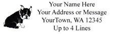 "30 Personalized Bulldog Return/Mailing Address labels  1""x 2.625""  Free Shipping"
