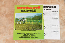 Dowdeswell DP7 range of ploughs showing County 1174 tractor brochure leaflet