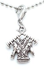 Knitting Charm  Hobby Knitting Charm on Clip On Lobster Claw Sweater Knitting