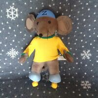 """RASTAMOUSE Large Brown Soft Plush toy with skates 13"""" Tall Excellent Condition"""