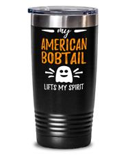 American Bobtail Lifts Spirit 20oz Stainless Tumbler Mug Cat Mom Halloween Gift