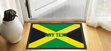 "24X16"" PERSONALISED JAMAICAN FLAG DESIGN ENTRANCE DOOR MAT NON SLIP ADVERTISING"