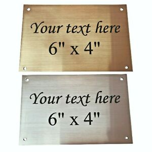 """Memorial Plaques ~ Gold and Silver ~ Laser Engraved ~ 6""""x4"""""""