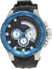 Invicta 16925 50mm I Force Chronograph Date Blue Bezel Black Strap Mens Watch