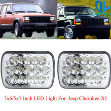 "7X6"" LED Headlight 5X7"" Headlamp Replacement H4 For Jeep Cherokee XJ 1984-2001"