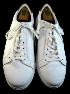 """NEW Allen Edmonds """"COURTSIDE"""" Men's Leather Sneakers 11 EEE  White  (648)"""