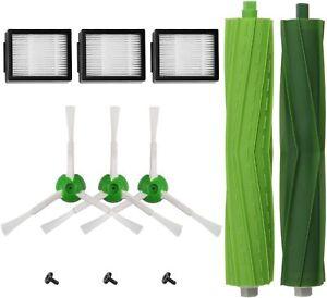Replacement Parts Side Brush&Filters For iRobot Roomba i7 i7+/i7 Plus E5 E6 E7