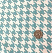 By 1/2 Yard Riley Blake Fabric Turquiose Teal Houndstooth Derby Mortenson BTHY