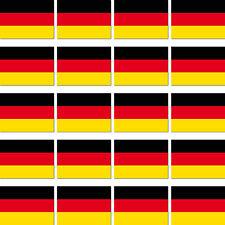 20 Stück BRD Deutschland Länder Fahne Flagge RC Modellbau Mini Aufkleber Sticker