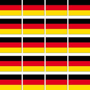 20 Sticker 0 13/16in Germany W Germany Ministicker Country Flag 4061963008911