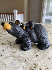 "Big Sky Carvers Bearfoots ""Jill & Her Cub"" Bear Collection Jeff Fleming"