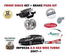FOR SUBARU IMPREZA 2.5 WRX EJ255 2007 > FRONT BRAKE DISCS SET + DISC PADS KIT
