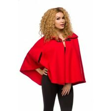 RED CAPE PONCHO RED RIDING HOOD STYLE FASHION 10 12 14 JACKET THIN COAT
