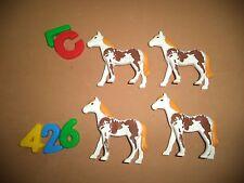 LOTE PLAYMOBIL, CABALLOS, CHEVAUX, HORSEX, NORDISTAS, MEDIEVAL,MODERNO, LOTE 426