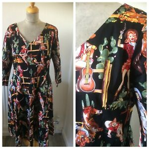 1950's Style  Rockabilly Rodeo Cow girl  Dress Size 18
