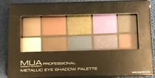 MUA Professional Makeup Academy METALLIC Eye Shadow Palette 10g W/Brush & Mirror