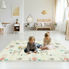 Folding Xl Bpa Free 0.6 in Reversible Foldable Baby Play Mat Waterproof 79 x71""