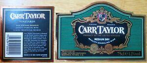 Etiquettes vin UNITED KINGDOM CARR TAYLOR Med  Sparkl  English Table Wine Labels