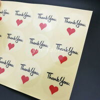 30mm Red Love Thank you Sealing Sticker For Wedding Favor//Envelope//Card X 100PCS