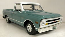 Acme 1/18 escala A1807201 1968 Chevrolet C-10 Pick-up Coche Modelo Diecast Verde