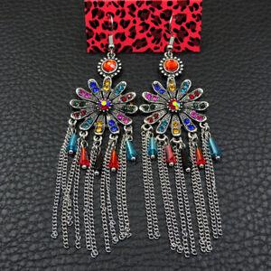 New Betsey Johnson rare Alloy Rhinestone flowers drop Earring Fashion Jewelry