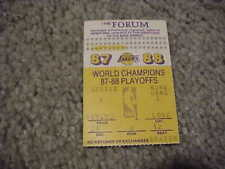 1988 Los Angeles Lakers v Detroit Pistons Playoffs Final Basketball Ticket #6