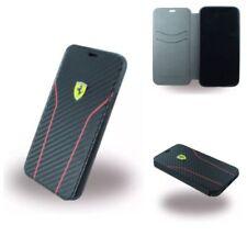 Original Ferrari Scuderia Carbon Book Cover Case Schutzhülle Für iPhone X