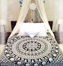 Elephant Mandala Tapestry Wall Hanging tirar Indio Decoración tapices Colcha