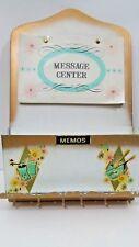Mid Century Vintage Retro Metal  Letter Bill Holder Wall Hanger Message Center