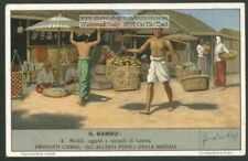 Bamboo Uses Crafts Asia Orient Utenseili Di Bambu 70 Y/O Trade Ad Card