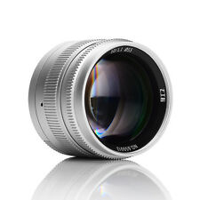 7artisans 50mm/f1.1 Manual Fixed Lens for Leica M-mount M-M M240 M6 M7 Silver