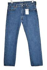 Mens Levis 501 STRAIGHT LEG Blue Stonewash Regular Mid Rise Jeans W34 L32