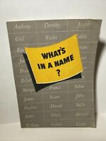 ⭐️New old Stock 1942 Ethyl Gasoline What's in a Name? book Baby names & meanings