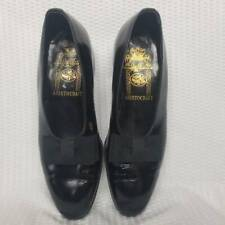 Johnston & Murphy Aristocraft Vintage Rare Shoes Black Dance Slip On Bow 8.5