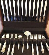 Gorham Sterling Silver Flatware Service For 12 ~ Gossamer ~ 51 Pc