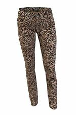 Low Rise Womens Natural Leopard Genuine Darkside SKINNY Fit Hipster Jeans 10 - 28inch Waist