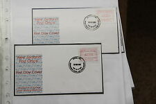 New Zealand 1986 first day covers  - ref k423 Label vending machines